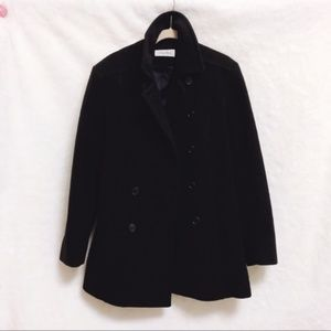 Calvin Klein Women Merino Wool Black Jacket